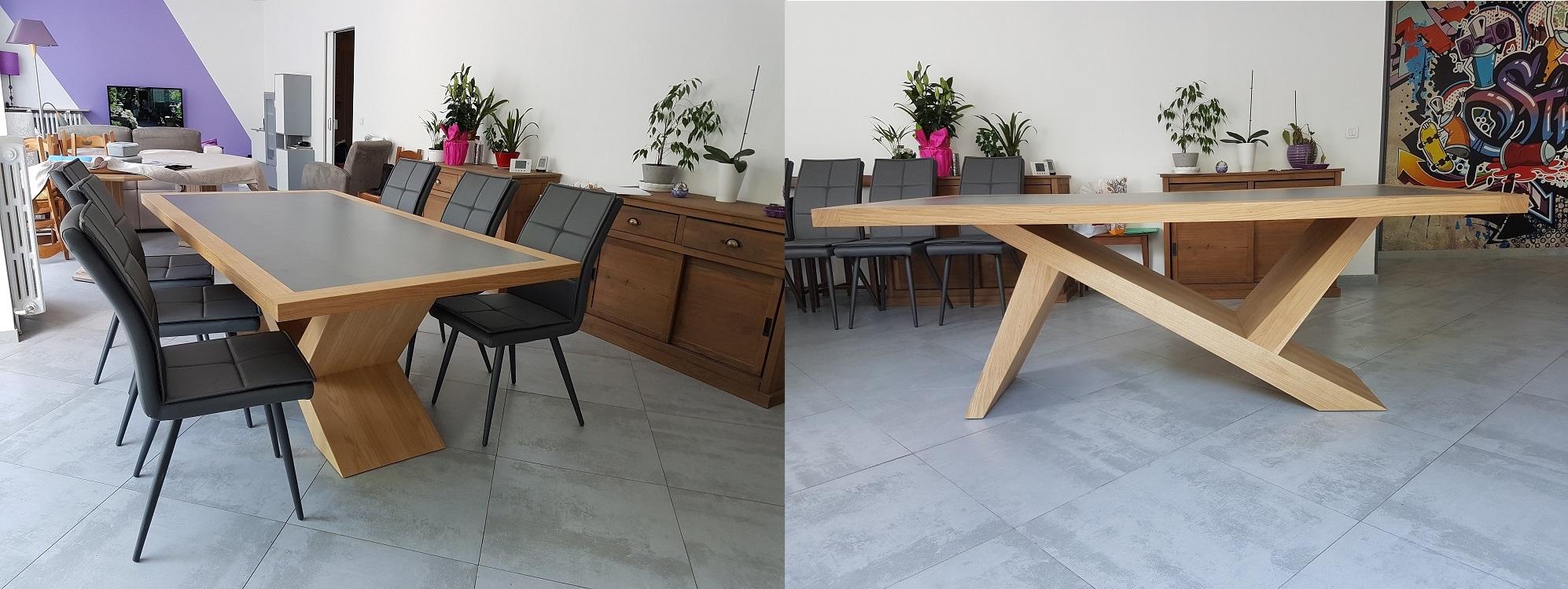 Table Chêne Céramique sur mesure